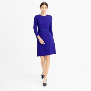 J.Crew: Double-faced Wool Crepe Dress Blue